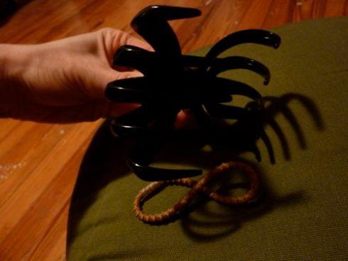 Scary hair clip!